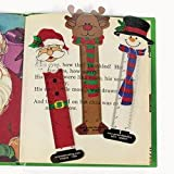24 CHRISTMAS Character BOOKMARKS/Santa/SNOWMAN/Reindeer/PARTY FAVORS/HOLIDAY Stocking Stuffers/2 dozen/5.25 by OTC
