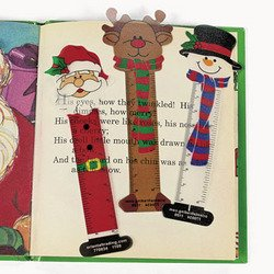 24 CHRISTMAS Character BOOKMARKS/Santa/SNOWMAN/Reindeer/PARTY FAVORS/HOLIDAY Stocking Stuffers/2 dozen/5.25 by - Favors Christmas Party