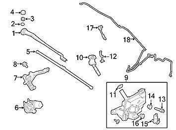 2012 - 2013 Ford Focus RH lado del pasajero del limpiaparabrisas motor soporte OEM nueva cv6z-17496-b: Amazon.es: Coche y moto