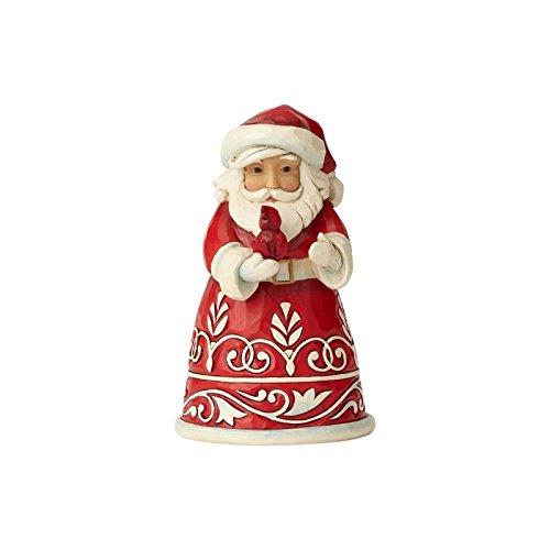 Enesco Pint Size Santa with Cardinal, Multi (Cardinals Santa)