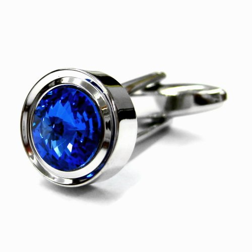 Tailor B Solo Blue Crystals Cufflinks Sapphire Cuff Links