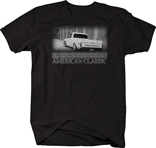 Bold Imprints Retro - American Classic Chevy C10 1967-72 Pickup Hotrod Muscle Tshirt - XLarge