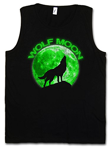 WOLF MOON HERREN TANK TOP MUSCLE SHIRT – Wölfe Mond Type Werwolf The O Werwolf Horror Das Howling Negative Tier Größen S – 5XL