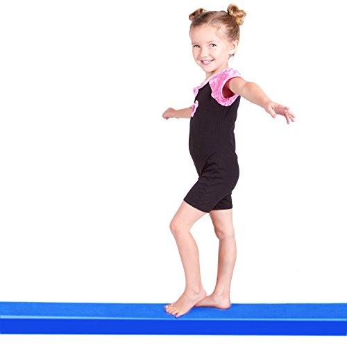REEHUT 9 Folding Floor Balance Beam Low Profile Gymnastics Skill Performance Training (Blue)