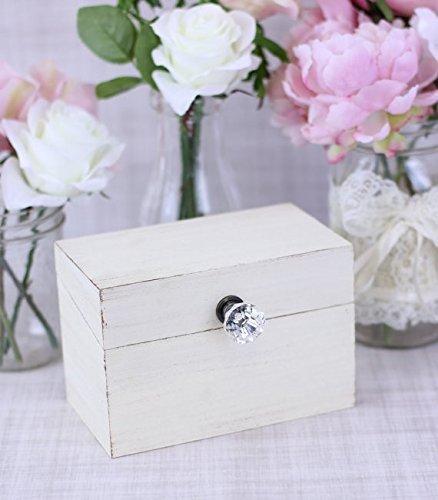 amazon com shabby chic recipe box with glass knob handmade rh amazon com