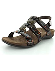 Vionic by Orthaheel Womens Amber Tortoise Synthetic Sandals 6 B(M) US