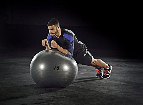 ADIDAS anti burst gym ball 75cm + hand pump [grey]