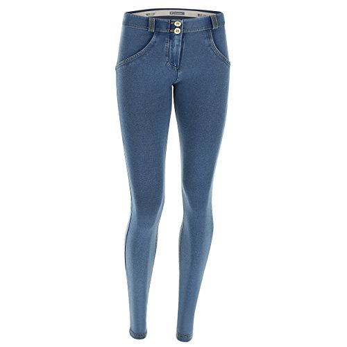 Jeans WR e Pantalone Regular Gialle Cuciture Scuro Chiaro in Skinny UP Vita FREDDY Denim Lunghezza PA5xWq11p