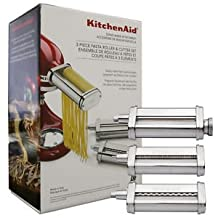 KitchenAid Ultimate Stand Mixer Attachment Packages - Fits All KitchenAid Stand Mixers (KSMPRA - 1 Pasta Roller, 1 Fettuccine Cutter, 1 Spaghetti Cutter)