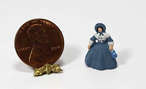 Dollhouse Miniature Southern Belle Doll Figurine in Blue by Multi Minis ()