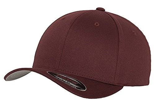 Dodge Charger SRT Hellcat Muscle Car Classic Outline Design Flexfit hat cap large/xlarge maroon
