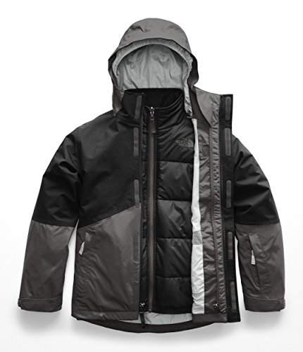 The North Face Kids Boy's Boundary Triclimate¿ Jacket (Little Kids/Big Kids) Graphite Grey Small (Youth North Face Ski Jacket)