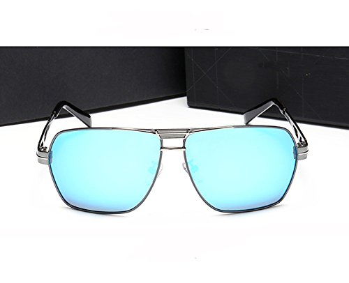 Men's UV Gun Men Travel Eyewear Eyeglasses Sunglasses Lens Frame Sunglasses Vintage Blue Protection Accessories Driving Polarized Square Sun For Fauhsto Glasses ice T5wF6