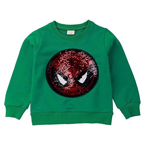 Girl Boy Children Fashion Sequin Hoodie Sweatshirt Cotton