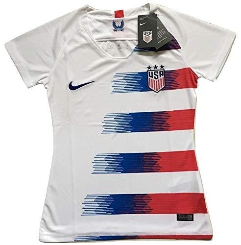 Enevva Women's USA National Team 2018-2019 Home Soccer Jersey White (Women's Medium)