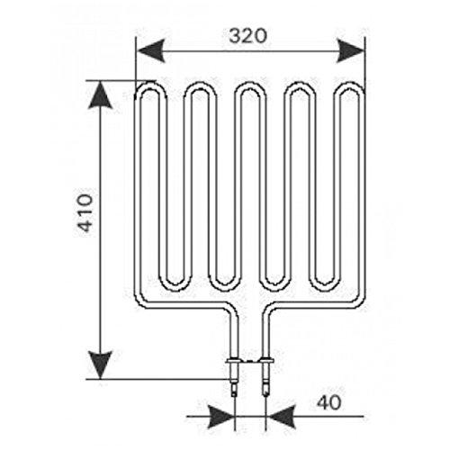 Harvia ZSK 720 3000 W 230 V Heizstab Kip Sound Topclass Ofenzubehör Heizelement