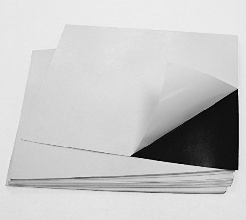 25 Adhesive Magnetic 8.5x11 inch sheets - 20 mil thick magnet - 20 Mil Thick Magnet