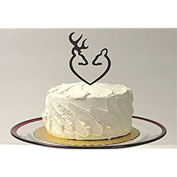 Country DOE AND BUCK Wedding Cake Topper Western Hunter Wilderness