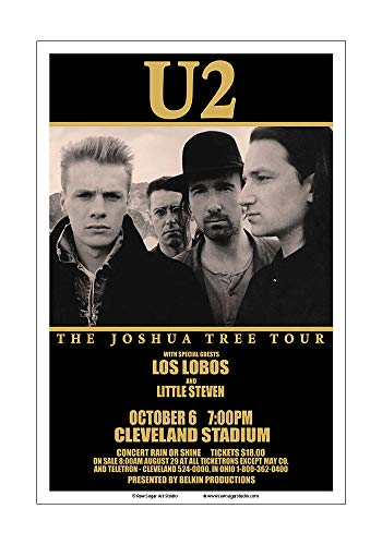- Raw Sugar Art Studio U2 1987 Cleveland Concert Poster