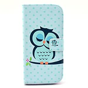 Dealspank PU Leather Wallet Case Cover A Hidden Cash Pocket & Two Card Slots ( Owl 2 ) Protect for HTC M8