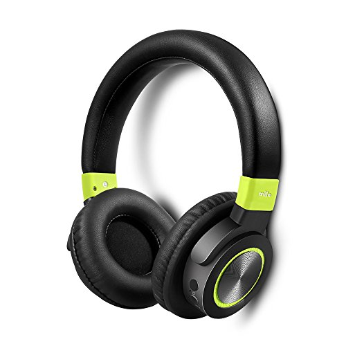 mifo F2 Bluetooth Headphones Over Ear, 50 Hours Long Playtime, Hi Fi Stereo Wireless Headset, Built in Mic with Wireless and Wired Dual Mode, Upgraded Protein Ear Pads, with BT 4.1 for iOS/Android/PC