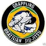 Écusson brodé à coudre ou à repasser Jiu-jitsu brésilien JJB Grappling 9cm