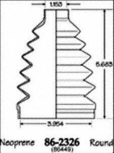 Empi 86-2326D CV Boot Kit EMP86-2326D