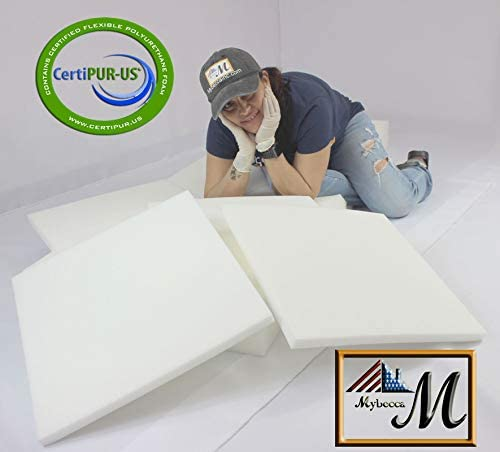 Benches /& Auto Car Seats Mybecca 6H x 24W x 72L High Density Firm Upholstery Foam Sheet for Seat Replacement Boat Seat Foam Padding Cross-Sectional Cushion Pad