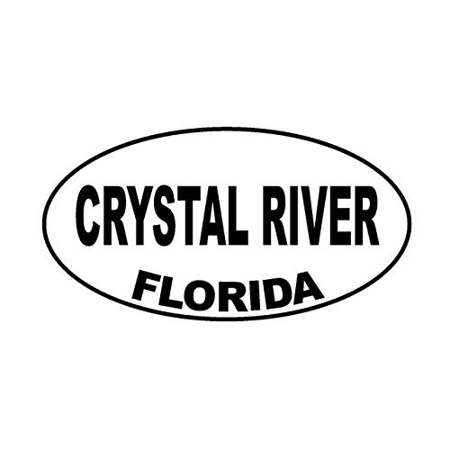 (Hitada - 14.7CMx7.8CM CRYSTAL RIVER FLORIDA Oval Vinyl Decal Car Sticker Black Silver C10-01590)