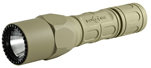 SureFire G2X Pro Dual-Output LED Flashlight with click switch, Desert Tan