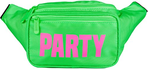 SoJourner Cute Green Neon Party Fanny Pack Waist Bag
