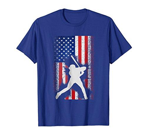 - Mens USA American Flag Baseball Shirt Cool Player Jersey Gift Tee XL Royal Blue