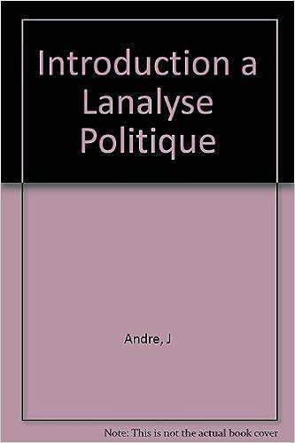 Livres gratuits INTRODUCTION A L'ANALYSE POLITIQUE pdf, epub ebook