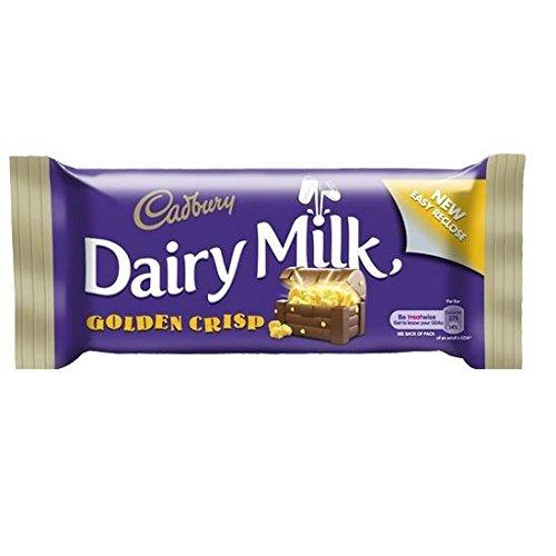 Cadburys Dairy Milk Golden Crisp Standard Bar (Irish) - 49g (Pack of 2) ()