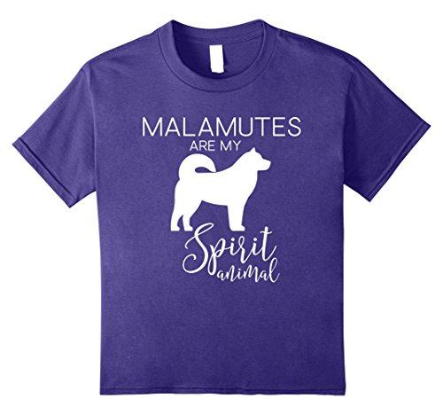 Kids Cute Unique & Funny Alaskan Malamute Dog T-Shirt & Gift 10 Purple