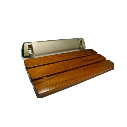 cheap LADA LD3 Folding Wall-mount Fold-up Teak Wood Shower Seat ...