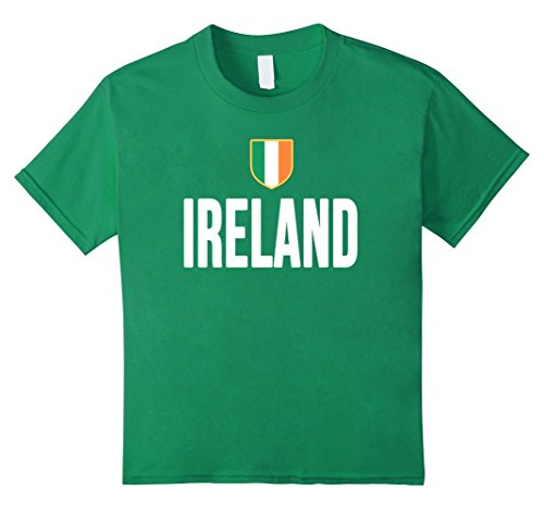 Kids IRELAND T-Shirt Irish Pride Flag Tee Soccer Football Rugby 8 Kelly Green