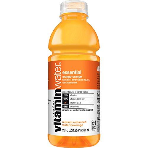 vitaminwater essential electrolyte enhanced water w/ vitamins, orange-orange drink, 20 fl oz