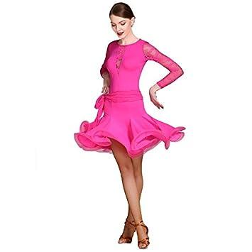 Wangmei Falda Profesional de Baile Latino para Mujeres Cha Cha ...