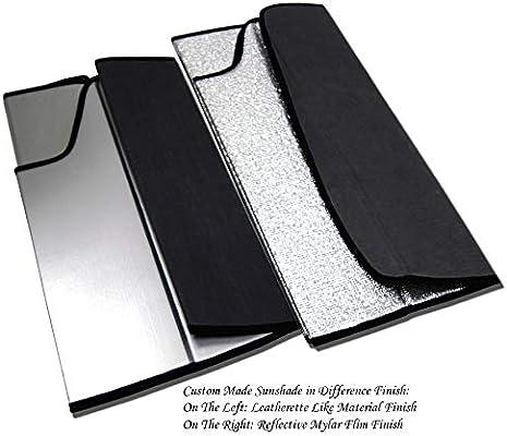 Sunshade Visor Leatherette Like /& Grey Felt Finish 1-pc Set Compatible With 2007-2011 Honda CR-V TuningPros SS-134-L Custom Fit Car Windshield Sun Shade Protector