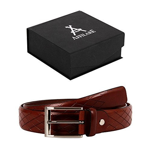 35-36 Affilare Men's Genuine Italian Leather Dress Belt 35mm Tan 12CFTD13TN from Affilare
