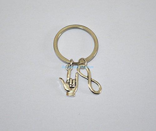 I Love you Keychain,Sign Language Keychain,Inifinity Keychain, Friend Keychain,Best Friend Gift,Couple Keychain, Giftbest gift keychain,Simple keychain, Everyday Jewelry,charm keychain