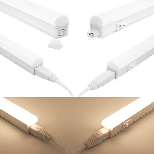 Luz Barra Tubo de Regleta Tira LED 9W para Bajo Mueble Armario de Cocina 573MM Longitud de Lampara Luz Neutra 4000K Lot de 1 Lampara de Enuotek: Amazon.es: ...