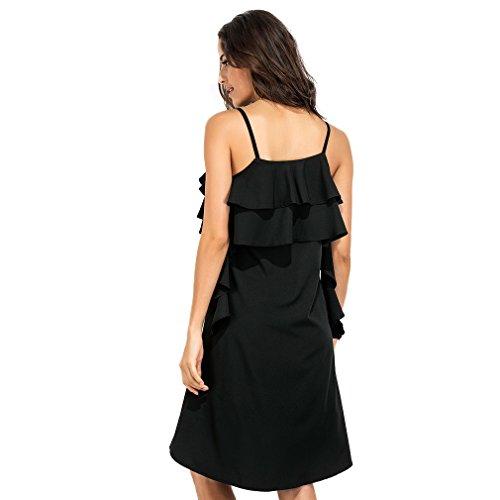Fur Story 17B89 Femme Casual Spaghetti Strap Dress