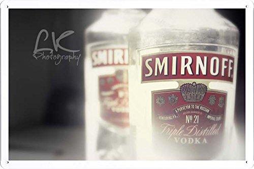 Smirnoff Vodka Tin Poster by Food & Beverage Decor Sign