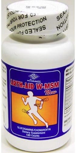 Arth-Aid W-MSM new Glucosamine Chondroitin 120 Counts