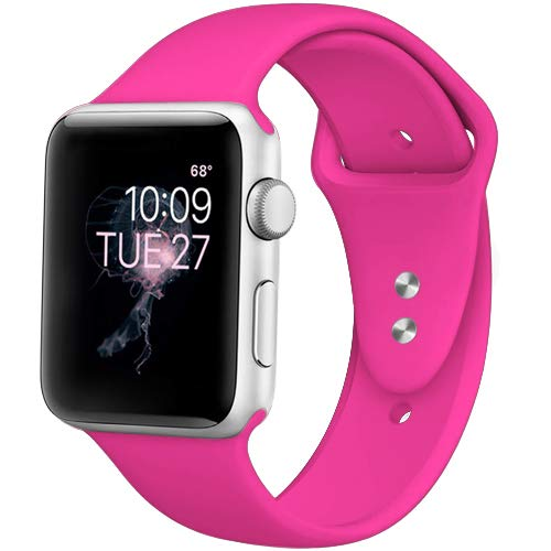 DaQin Band Compatible with Apple Watch 38/40mm, Sport Replacement Bands for iWatch Series 3 Series 2 Series 1, Rose Pink, S/M