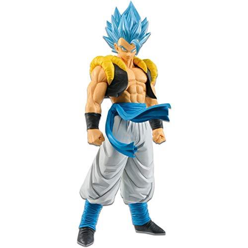 Banpresto Super Saiyan Blue Gogeta: 27cm Dragonball Super Resolution of Soldiers Statue Figurine & 1 Dragonball Trading Card Bundle (39258)