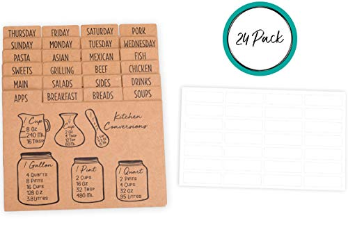 Recipe Box Dividers - 4
