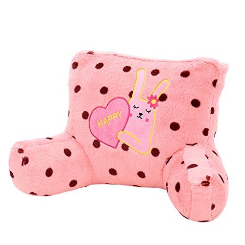 Adorable Pink Polka Dot Rabbit Fleece Lumbar Support Backres